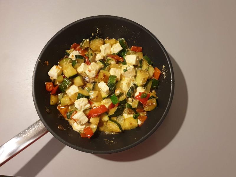 Nog eenvoudiger: groenten en feta